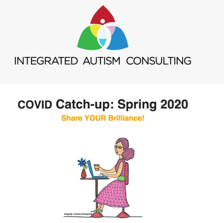 Integrated Autism Consulting Newsletter COVID Catch-up