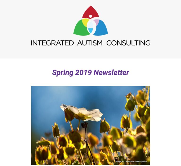 Integrated Autism Consulting Newsletter Spring 2019