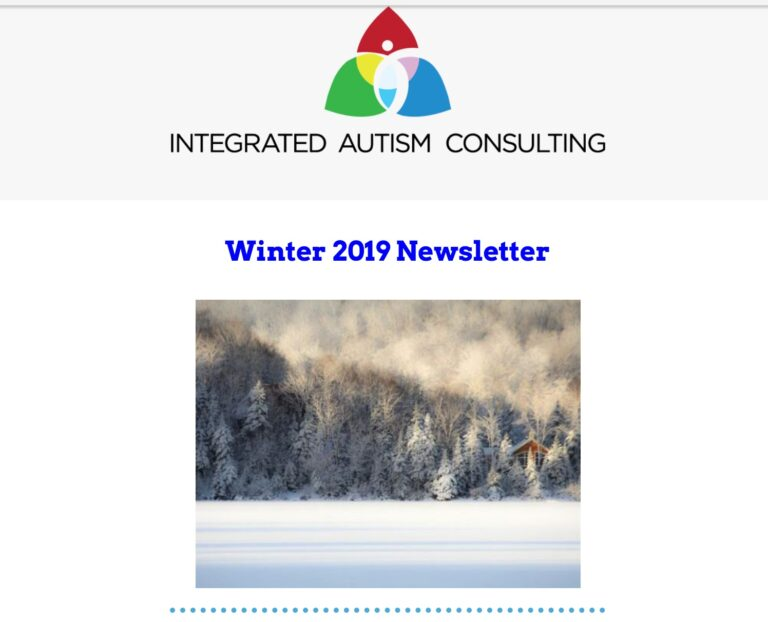 Integrated Autism Consulting Newsletter Winter 2019