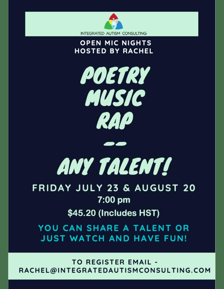 New at IAC – Open Mic Nights