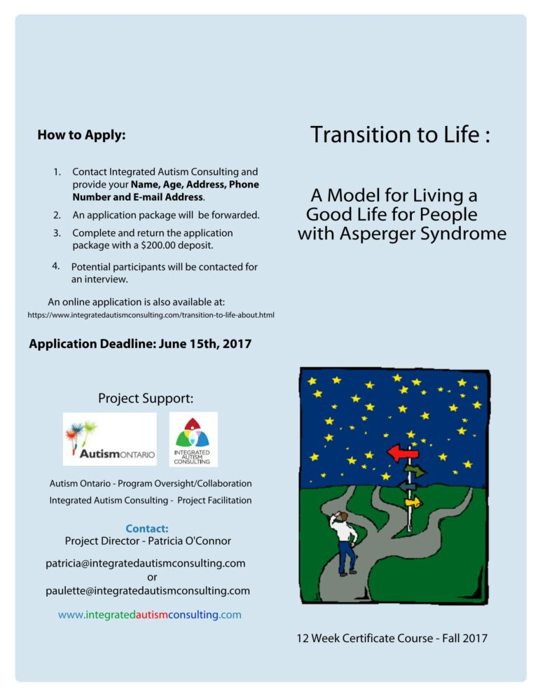 REGISTER NOW FOR TRANSITION TO LIFE – TORONTO – FALL 2017